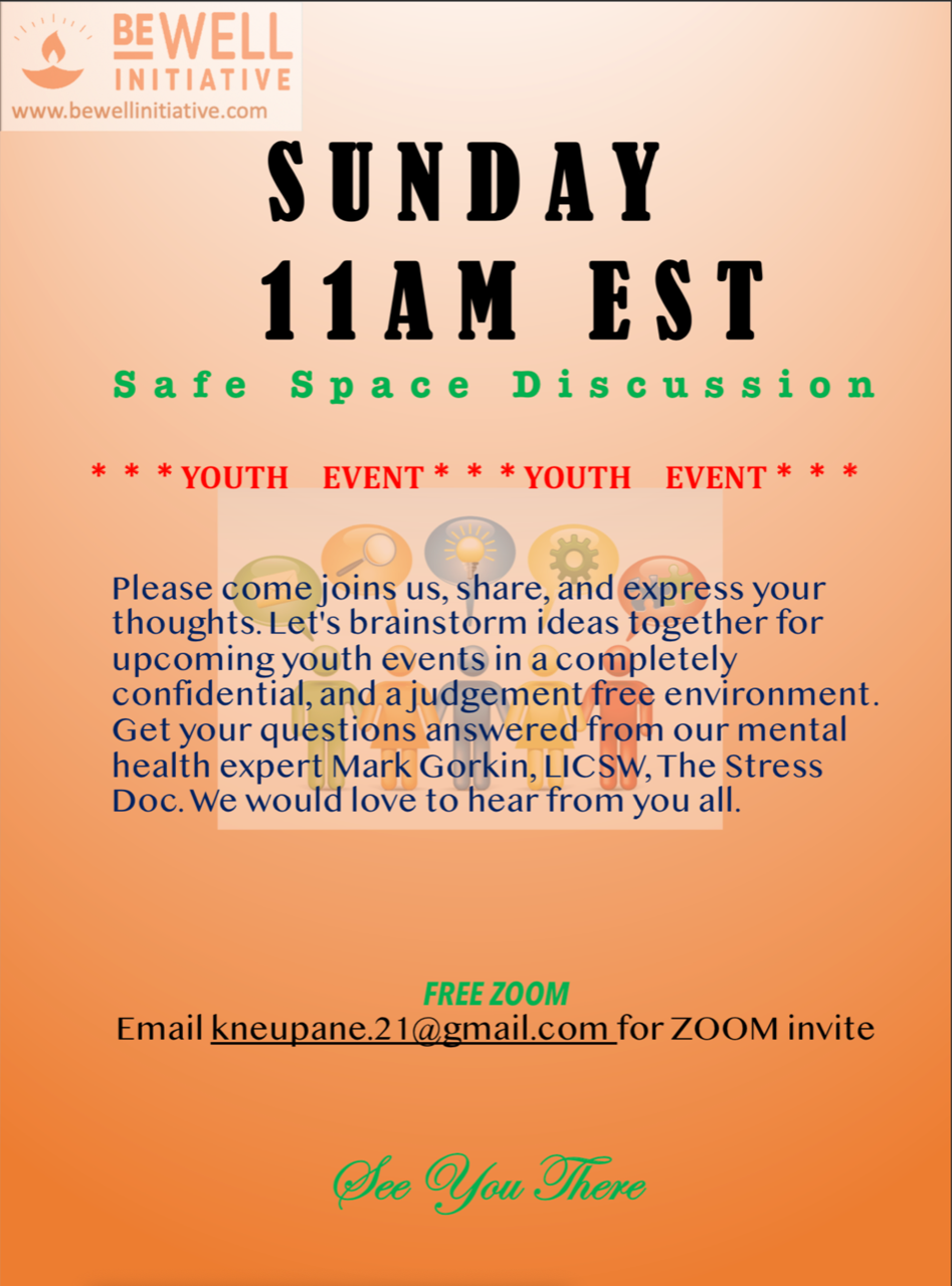 Poster for Safe space discussion session
